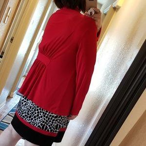Avital Sweaters - Women's Plus Size Red Silky Cardigan